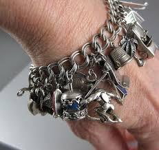 charm bracelet vintage silver images Vintage charm bracelet with 28 charms jpg