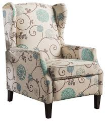 westeros traditional wingback fabric recliner chair transitional