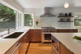 mid century modern walnut kitchen cabinets midcentury modern kitchen remodel in the oakland