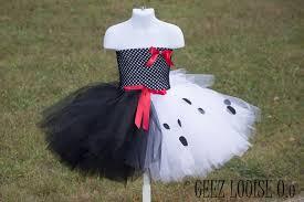 Dalmatian Puppy Halloween Costume Cruella Halloween Costume Inspired Tutu Skirt Boutique Bows