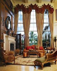 Long Window Curtains by Tall Window Treatments With Long Curtains Brown Swag Valances