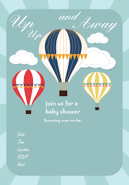 free baby shower printables invitations free baby shower invitation air balloon up up and away via www