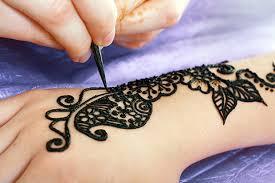 black henna tattoos about skin