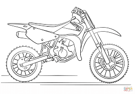 suzuki dirt bike coloring page free printable coloring pages