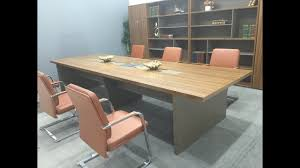 Wood Office Desks Wooden Office Furniture Conference Table Youtube