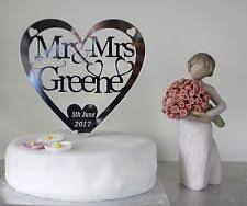 personalised wedding cake decorations ebay