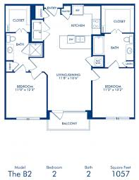 1 2 bedroom apartments in dallas tx camden victory park blueprint of b2 floor plan 2 bedrooms and 2 bathrooms at camden victory park apartments
