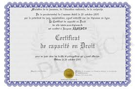 certificat de capacitã de mariage certificat de capacite en droit