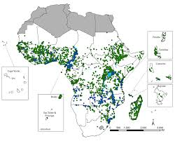 Cdc Malaria Map A Geo Coded Inventory Of Anophelines In The Afrotropical Region