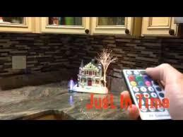 Led Backsplashes Fiber Optic Lighted Backsplash Glass Tile Youtube