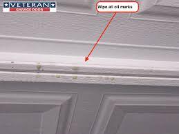 garage door opener track which parts of garage door should lubricate and oil