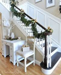 Banister Garland Ideas Christmas Garland Ideas Staircase Christmas Staircase Decorating
