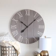 Design Home Decor Wall Clock by 25 30 In Wall Clock Medium Grey Chalk Paint Large Wall Clock