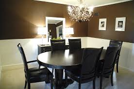 dark brown walls in dining room room house decor picture