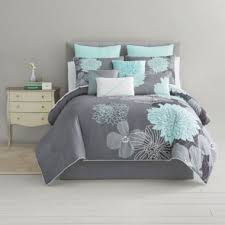 home expressions alice modern floral 10 pc comforter set