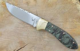 a unique fixed blade hunting knife custom hand made by m g