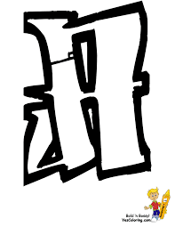 graffiti alphabet a coloring sheet at yescoloring http www