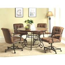 kitchen table with caster chairs kitchen table with rolling chairs ideas and dining room sets on