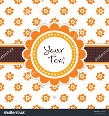 thanksgiving party invites vector greeting card template vintage floral stock vector