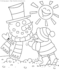 coloring pages of winter
