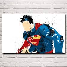 batman vs superman movie art silk fabric poster print superman