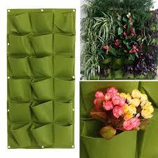 aliexpress com buy 18 pockets vertical wall planter growing bags