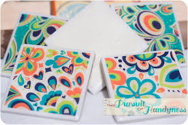 diy coasters with a mirror like finish