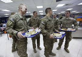 troops celebrate thanksgiving in kabul as thousands of meals are
