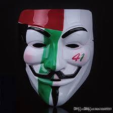 costume masks army green masquerade v masks for lumious