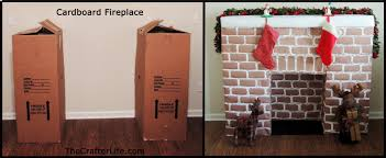cardboard christmas fireplace binhminh decoration