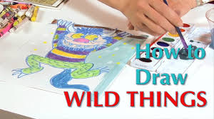 where the wild things are coloring book wild things drawing great artist mom youtube