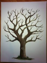 large olive tree the original hand drawn guest book fingerprint