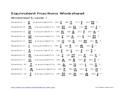 equivalent fractions worksheet 5 l 1 4th 8th grade worksheet