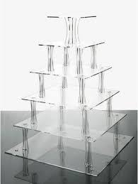 acrylic cake stands 6 tier clear square shaped acrylic cup cake stand ebay