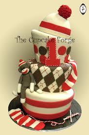 monkey baby shower cake sock monkey baby shower cake 3381