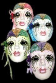 mardi gras ceramic masks clay ceramic decorative collectible wall mask vintage