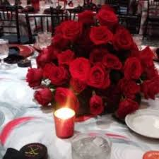 Red Roses Centerpieces Hockey Theme Bar Mitzvah U2013 Magic Moments Parties And Events