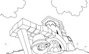 angry bird pigs king give command coloring pages bulk color