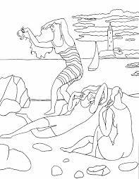 les baigneuses p picasso coloriage artiste pinterest craft