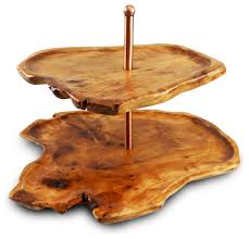 root 2 tiered server rustic dessert and cake stands by enrico