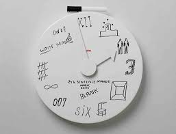 wall clocks a wall clock with a pen you can write draw and erase it easily