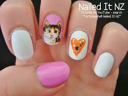 tortoiseshell cat nail art tutorial