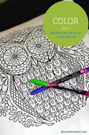 create a pillow that you can color rachel teodoro