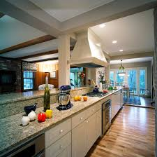 galley open concept kitchen decorating ideas kitchen traditional