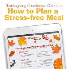 thanksgiving countdown calendar how to plan a stress free meal