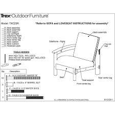 20 X 20 Outdoor Chair Cushions Trex Rockport Club Chair Rocking Furniture