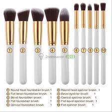 10pcs cosmetic makeup brushes set foundation face powder eyeshadow