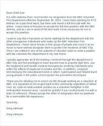 volunteer resignation letter template 6 free word pdf format
