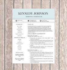 Iwork Resume Templates Single Page Resume Template Free Resume Template Microsoft Word 7