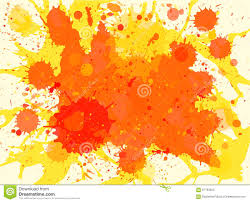 Bright Orange Paint by Orange Watercolor Paint Splashes Background Stock Vector Image